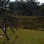 Swings overlooking dam May 2010
