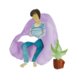 Person sitting on beanbag - Heal For Life helps with child behaviour problems